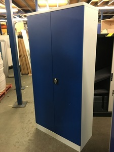 additional images for 1950mm high blue/grey metal cupboard