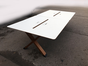 additional images for Koleksiyon Partita white bench desking, per user