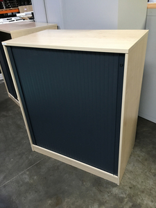 additional images for 1200mm high maple/graphite tambour cupboard