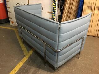Vitra Alcove Plume ice blue 2 seater sofa