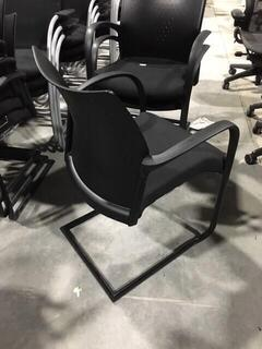 Senator Trillipse black fabric stacking chair