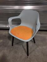additional images for Vitra Hal blue/orange Armchair Wood