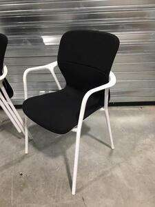 additional images for Black Herman Miller Keyn 4 leg stacking chairs