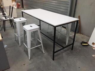 1800x750mm white poseur tables