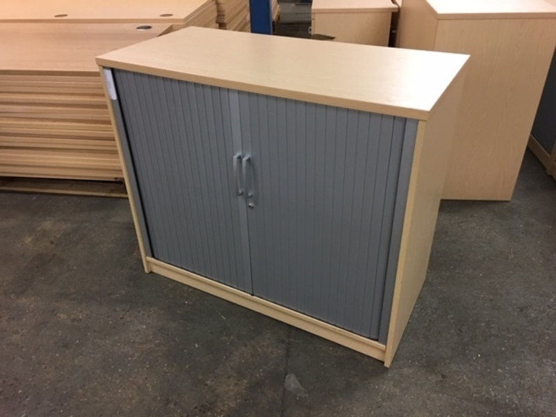 additional images for 900mm high Elite ash tambour cupboard