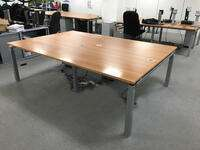 additional images for 1200x800mm cherry Mobile Linnea bench desks, per user