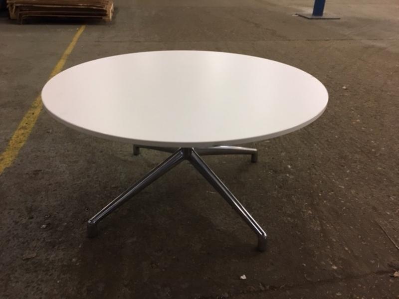 additional images for 800mm white reverse chamfer edge Boss Design Kruze coffee table