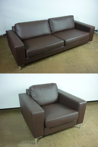 additional images for Jonas Ihreborn Filip brown sofa and armchair set