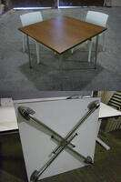 additional images for Kusch and Co 900mm square folding leg tables