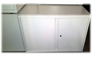 additional images for Low white metal cupboard
