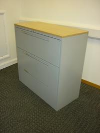 additional images for Steelcase grey/oak 3 drawer side filer