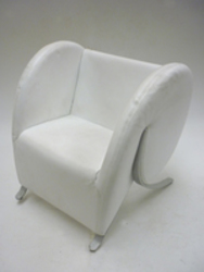 additional images for Virgola by Arflex in white leather (CE)