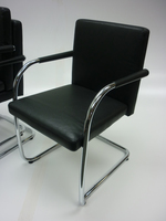 additional images for Vitra Visasoft black leather cantilever chair  (CE)