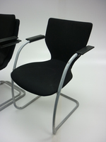 additional images for Black Orangebox X10 stacking cantilever chairs (CE)