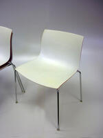 additional images for Arper white shell stacking canteen chairs
