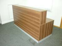 additional images for Walnut 2000x800mm reception desk