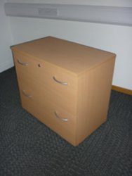 additional images for Buronomic beech 2 drawer side filer