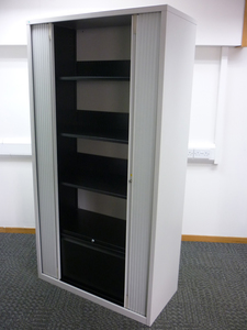 additional images for 1920mm high grey Triumph tambour cupboard
