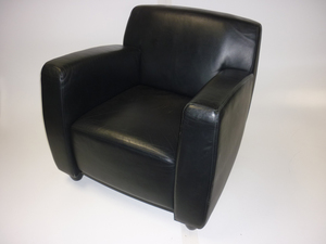 additional images for Whitmann black leather reception armchair