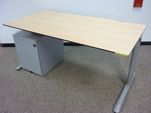 additional images for Task maple trespa 1600w x 800d mm desks CE