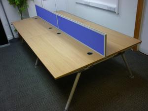 additional images for Senator Core Highland Oak bench & single desks