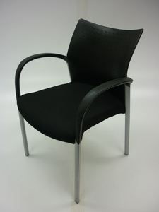 additional images for Senator Trillipse black 4 leg meeting chair (CE)