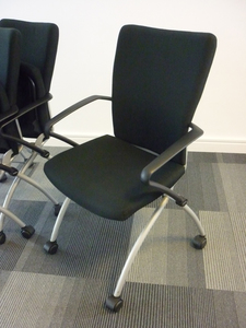 additional images for Black Comforto nesting meeting chairs