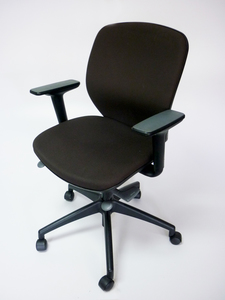 additional images for Dark chocolate brown Orange Box Joy chair