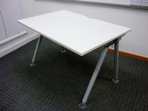 additional images for White Senator Core rectangular desk (CE)