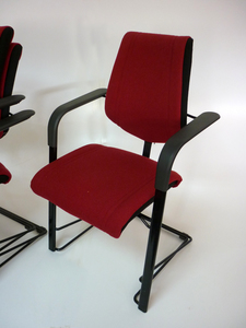 additional images for Burgundy HAG stackable meeting chairs