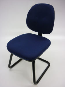 additional images for Dark blue cantilever meeting chairs