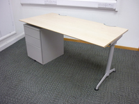 additional images for 1600w x800d mm Herman Miller Abak maple desks