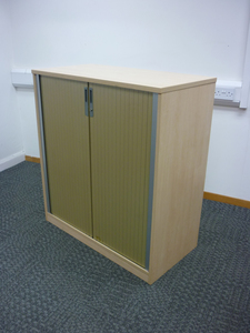 additional images for 1100mm high Ofquest maple tambour cupboard