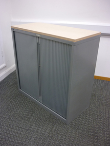 additional images for 1050mm high silver/maple Triumph tambour cupboard