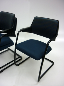 additional images for Gisberger blue & grey stacking chairs