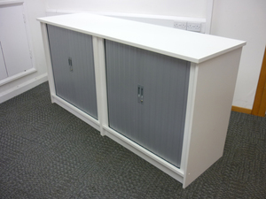 additional images for 1000mm high white double width tambour cupboards