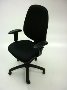 additional images for Black Air Seating Touch task chair with arms