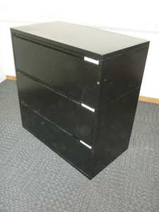 additional images for Black 3 drawer side filer