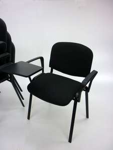 additional images for Charcoal Club conference chairs with writing tablet