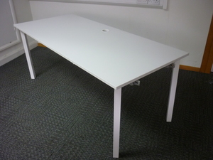 additional images for Kinnarps 1800x800mm white desks