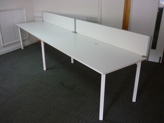 Kinnarps 1800x800mm white desks