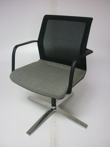 additional images for Orangebox Workday grey/mesh back swivel meeting chair