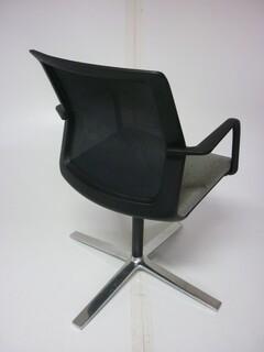 Orangebox Workday greymesh back swivel meeting chair