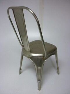 Tolix bare metal dining chair