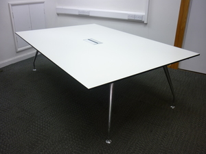 additional images for 2400x1600mm Techo white conference table