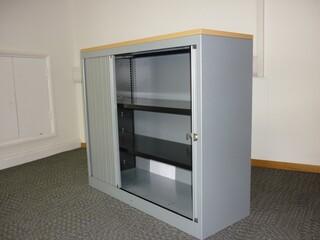 1200mm high silverbeech tambour cupboards