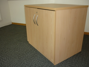 additional images for Desk high Claremont beech cupboard