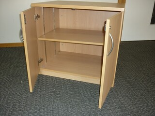 Desk high Claremont beech cupboard