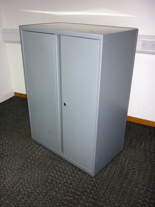 additional images for 1120mm high Bisley silver metal double door cupboard