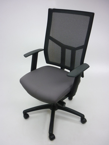 additional images for OCEE Design Airo grey/black mesh task chair